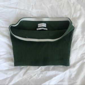 Urban Outfitters Green Bandeau Top